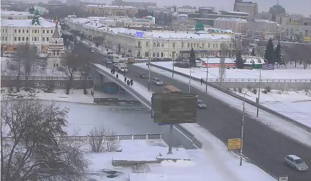 Омская вебкамера на Лермонтова от 2014-12-01 11-42-09