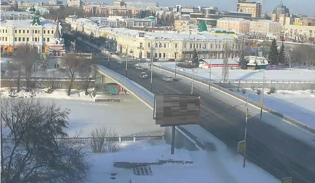 Вебкамера на Лермонтова в Омске 2015-01-24 15-23-25